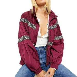 🆕Free People Jacket in Mulberry Wine Colour